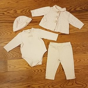 Little Me Baby Girl 4-piece Cardigan Pant Set